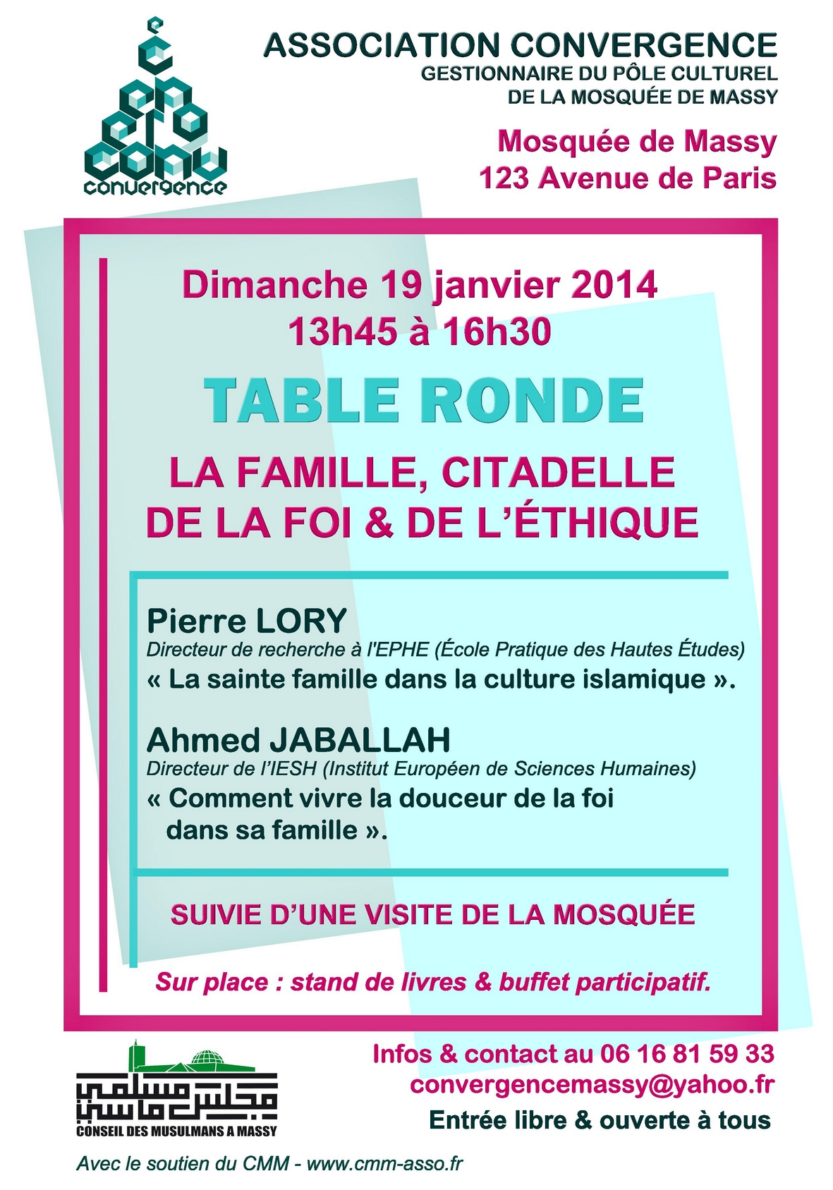 Affiche table ronde 19/01/2014