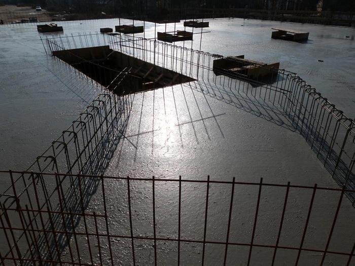 Coulage de la dalle de 800 m² - 19/02/2013